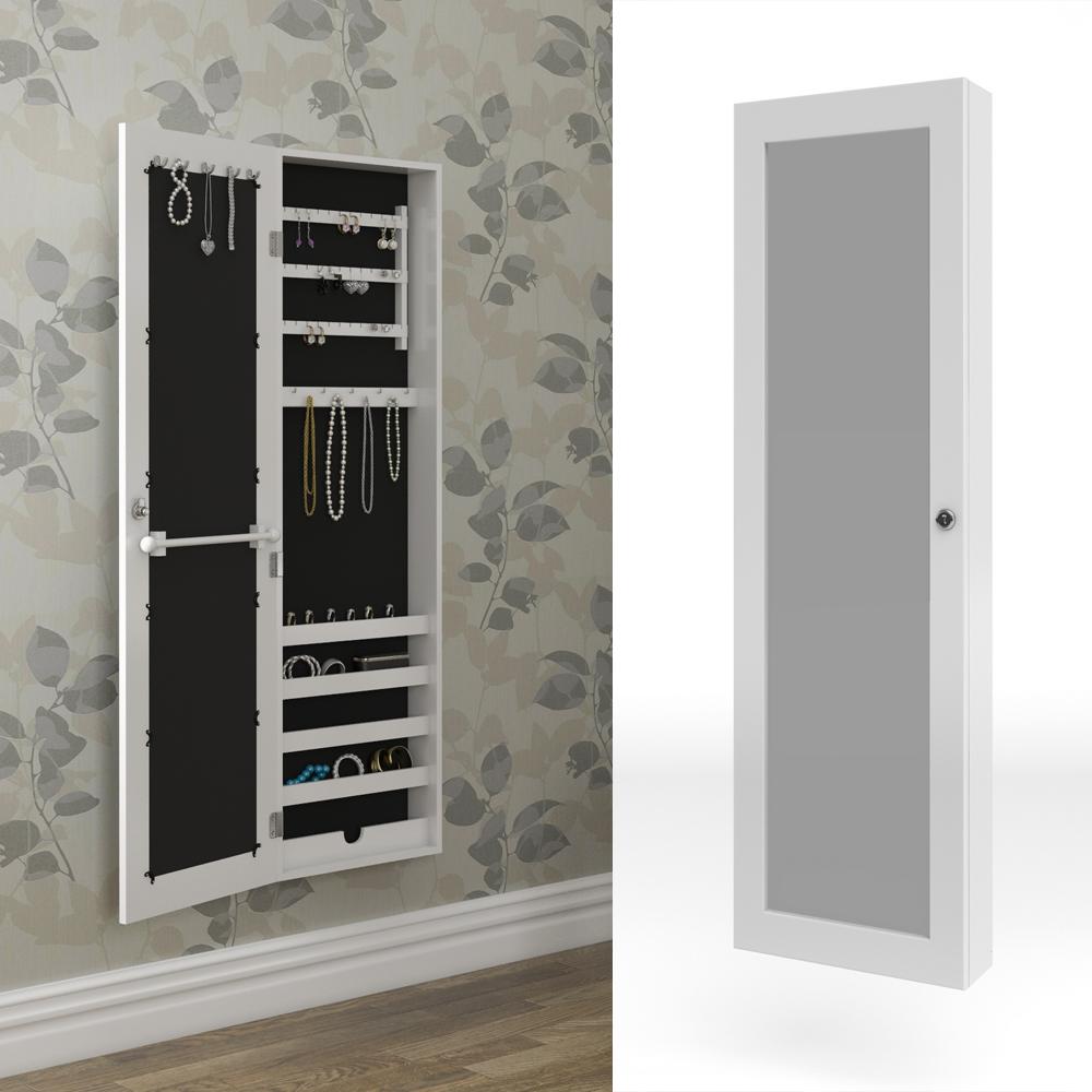 Armario con espejo armario joyero espejo de pared blanca
