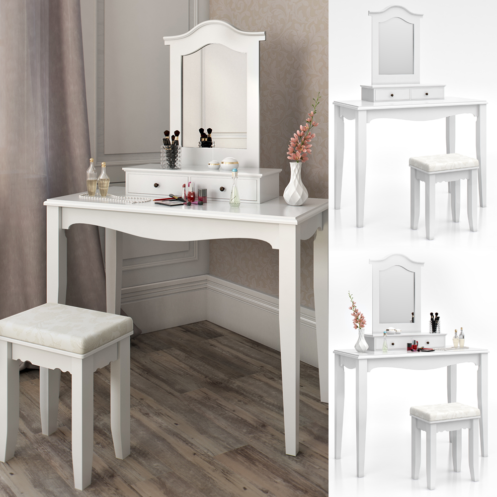 Dressing Table  Stool Makeup Table Storage Mirror Bedroom Vanity table Cheverny  eBay