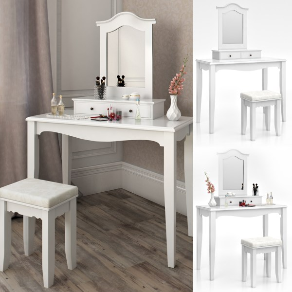 Vanity Makeup Table with Storage