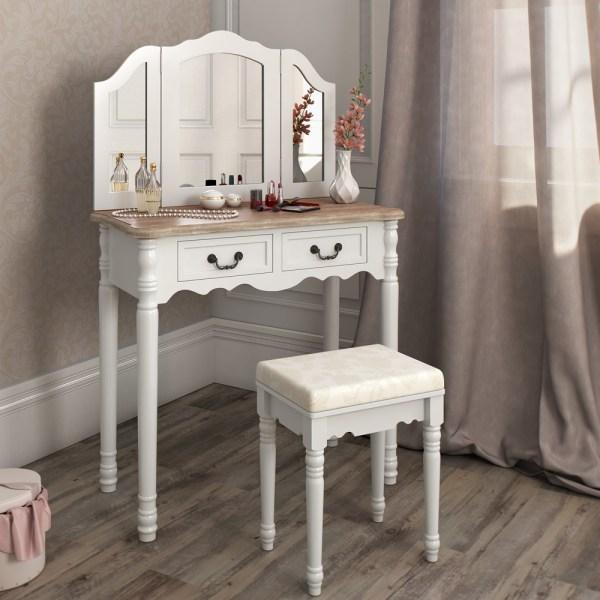 Vanity Makeup Table with Storage