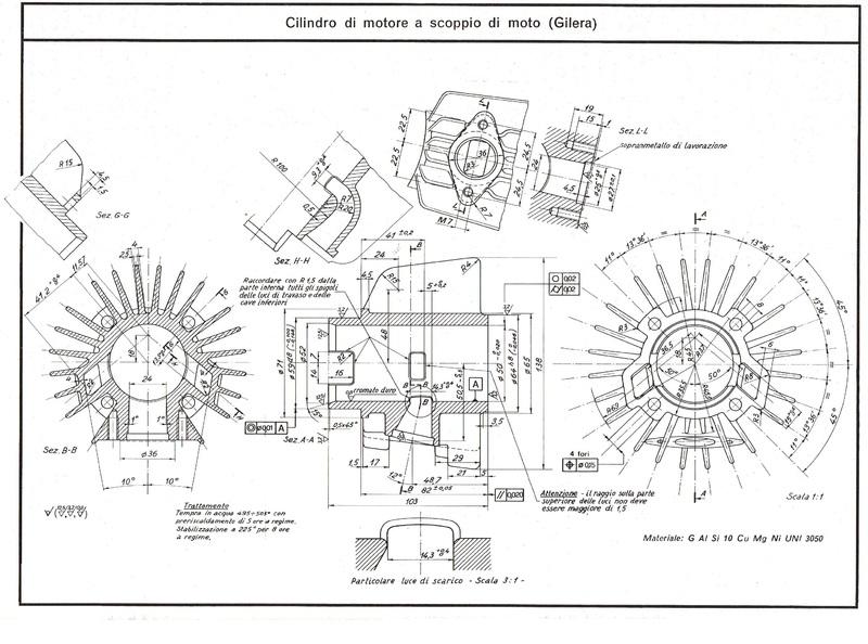 Disegno cilindro Gilera ø50mm.... misterioso
