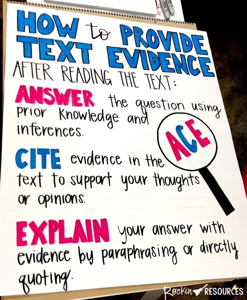hight resolution of How to Teach Text Evidence: A Step-by-Step Guide \u0026 Lesson Plan   The TpT  Blog
