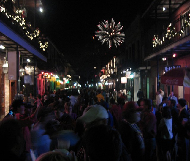 New Years Eve Fireworks From The Streets Of The French Quarter
