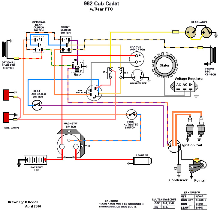 582 cub cadet wiring diagram single phase 220 volt 82 series only cadets ih built 982