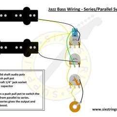 Les Paul Wiring Diagram Propylene Pressure Temperature To Jazz Bass With Series Parallel Switch Push Pull Pot