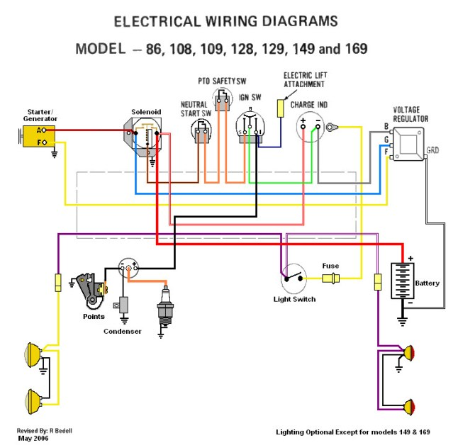 wiring diagrams  wf  only cub cadets