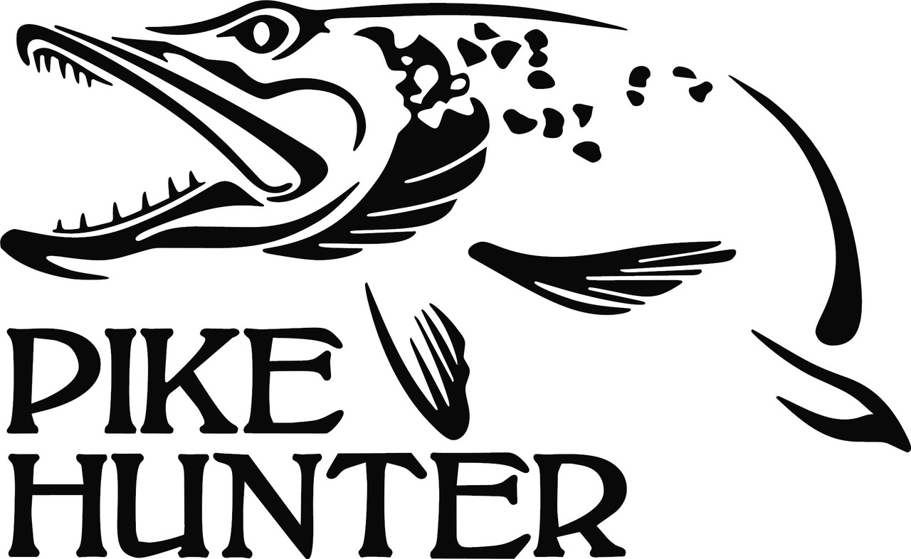 Pike Hunter Iii Logo Vinyl Decal Sticker Lines Lures