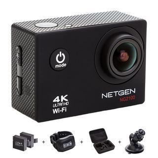 NETGEN Sports Action Camera 16 MP 4k WiFi Ultra HD Waterproof, Best action camera india, action camera amazon