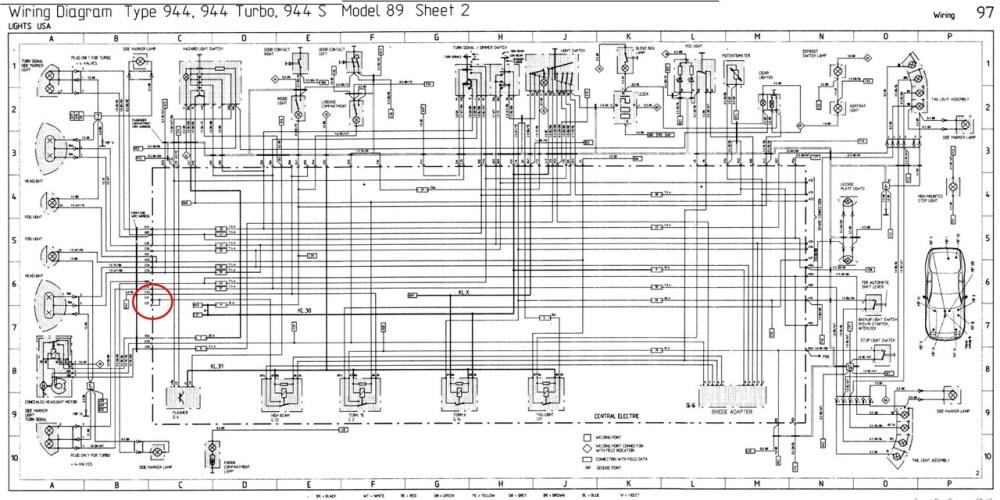 medium resolution of porsche 944 turbo fuse box diagram