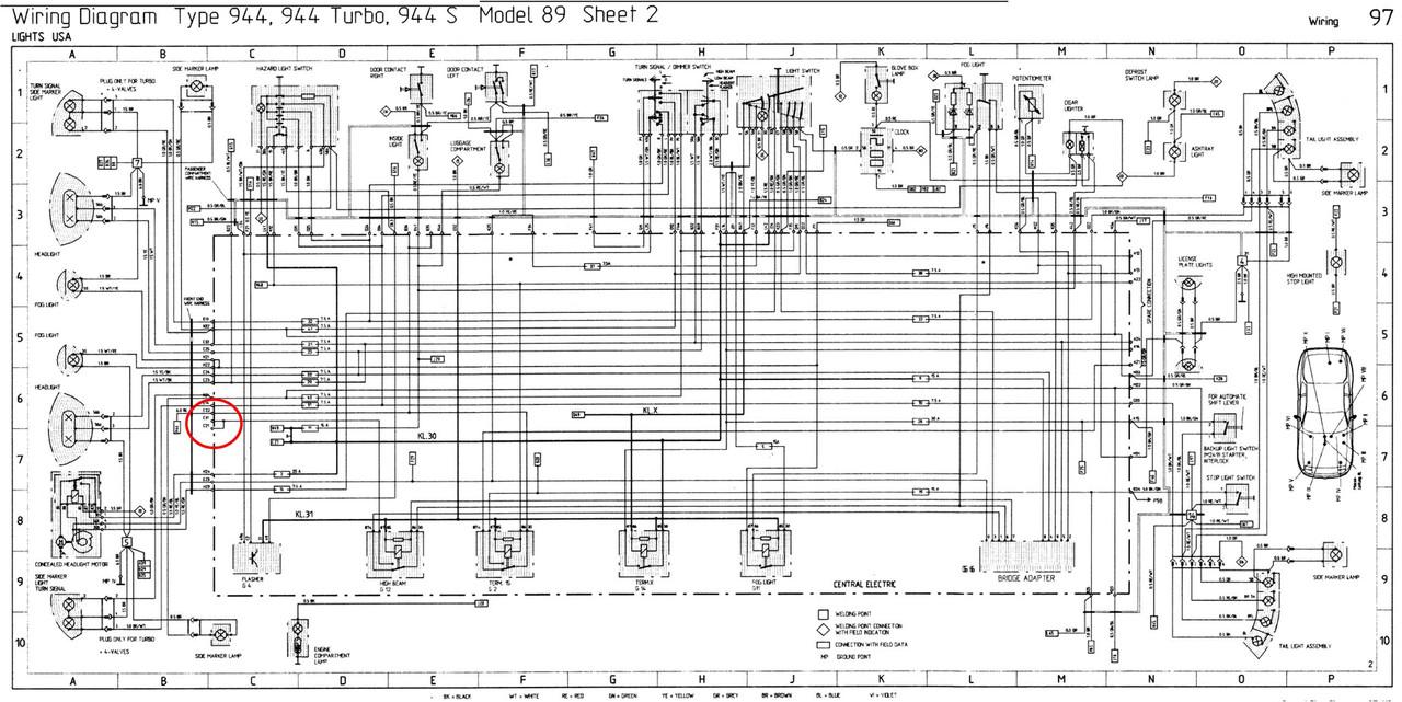 hight resolution of porsche 944 turbo fuse box diagram