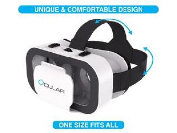 Ocular Prime Virtual Reality Glasses, Ocular Swift Fully Adjustable VR Virtual Reality Headset With 42 MM Lenses Glasses for Android/iOS Devices, best vr headsets to buy in India