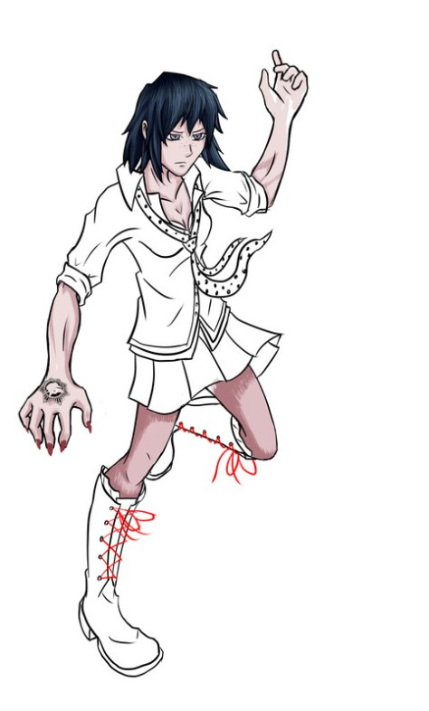 Mukuro ikusaba drawing process
