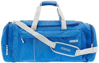 American Tourister Nylon 65 cms Blue Softsided Travel Duffle, best travel bags online india, travel bag packs low price