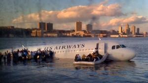 Plane landing in the Hudson