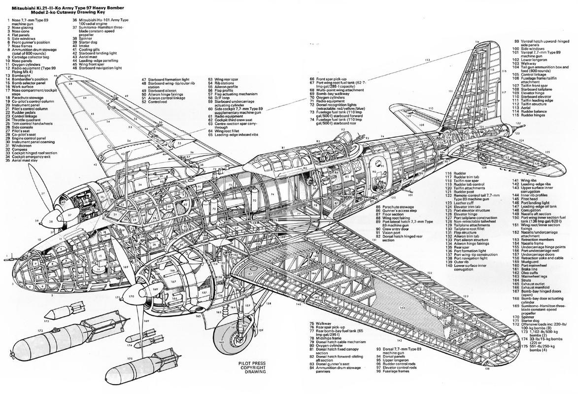 Mitsubishi Ki 21ardero Medio Bimotor