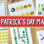St Patricks Day Math Activities for Preschool