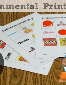 Environmental print bingo free printable game for preschool and kindergarten also what is rh pre kpages