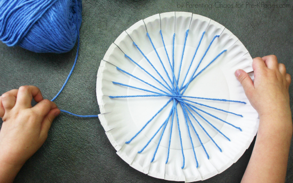 Earth Day Paper Plate Weaving Craft  PreK Pages