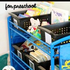 Classroom Organizer Chair Covers Good Posture Tv Preschool Library Center Book Organization