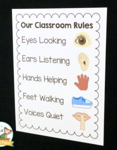 Printable classroom rules for preschool also rh pre kpages