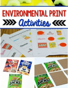 Environmental print activities for preschool also what is rh pre kpages