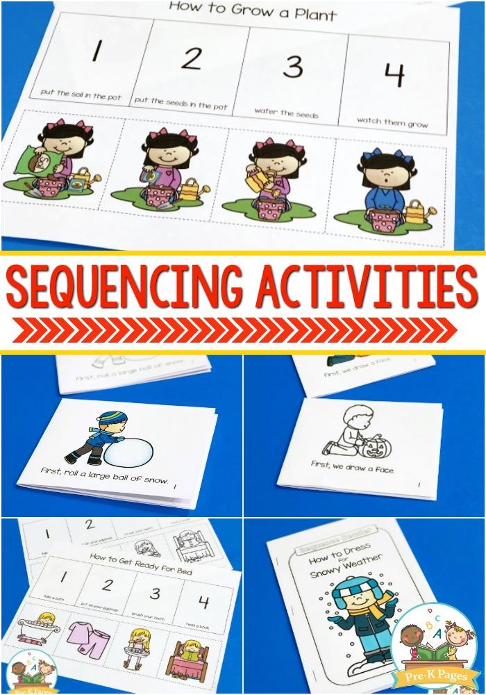 Sequencing Activities For Preschoolers