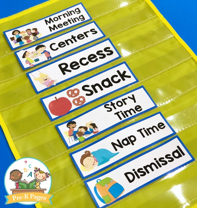 Download our standard preschool daily schedule template and make a list of all the activities that you have planned just for them. Preschool Daily Agenda Visual Schedule