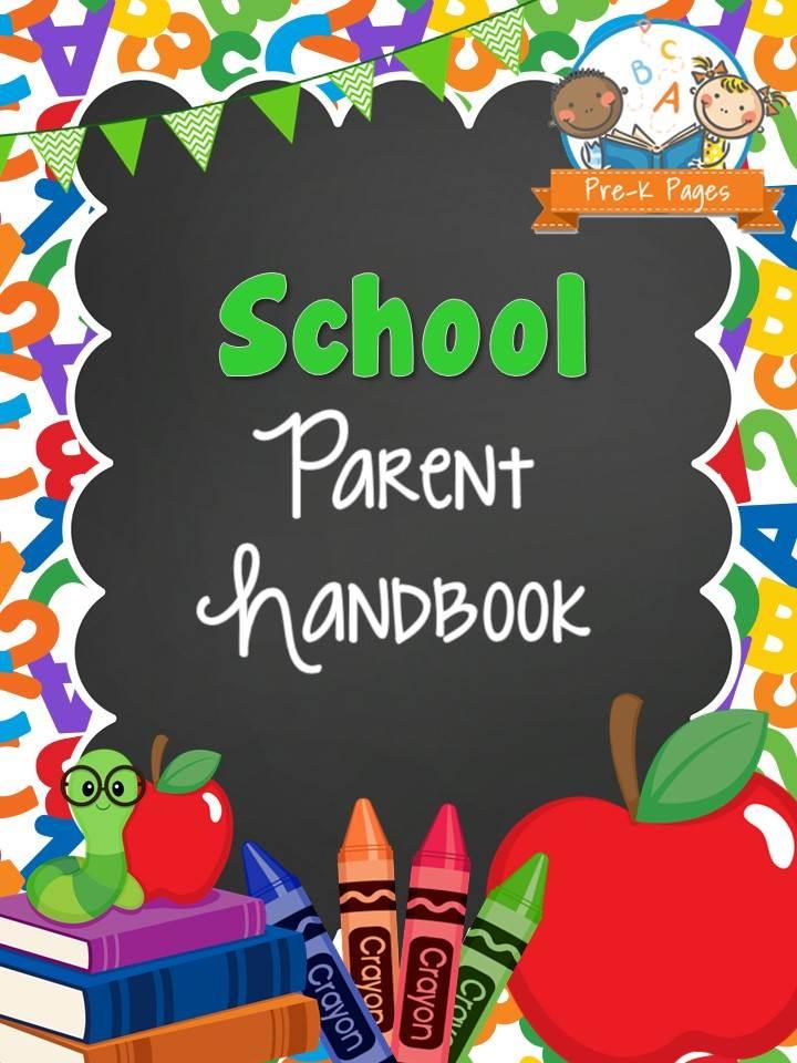 School Theme Parent Handbook Pre K Pages