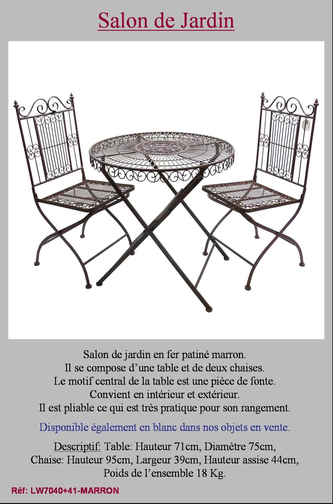 Petite Table De Jardin Pliante En Fer | Tables Rondes De Jardin ...