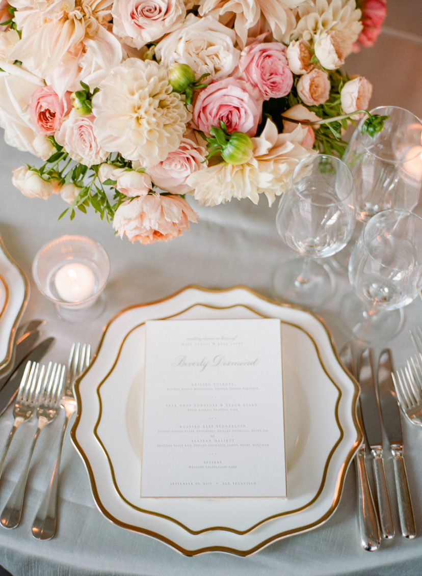 Classic Blush and Gold Ballroom Wedding in San Francisco