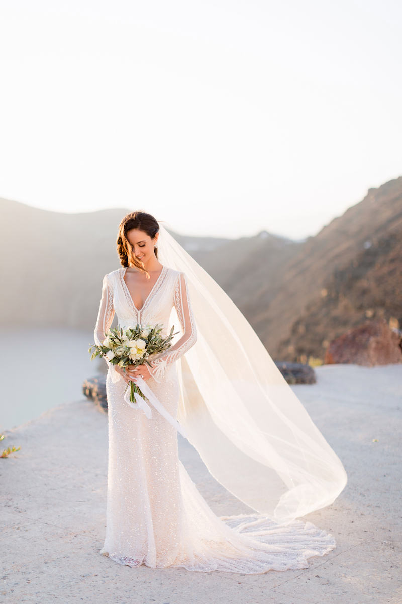 Ultra Romantic Island Wedding in Santorini