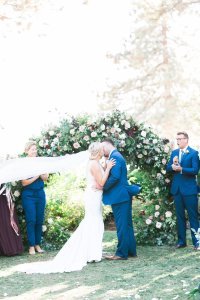 Elegant Fall Lake Tahoe Wedding with Gorgeous Floral Arch ...