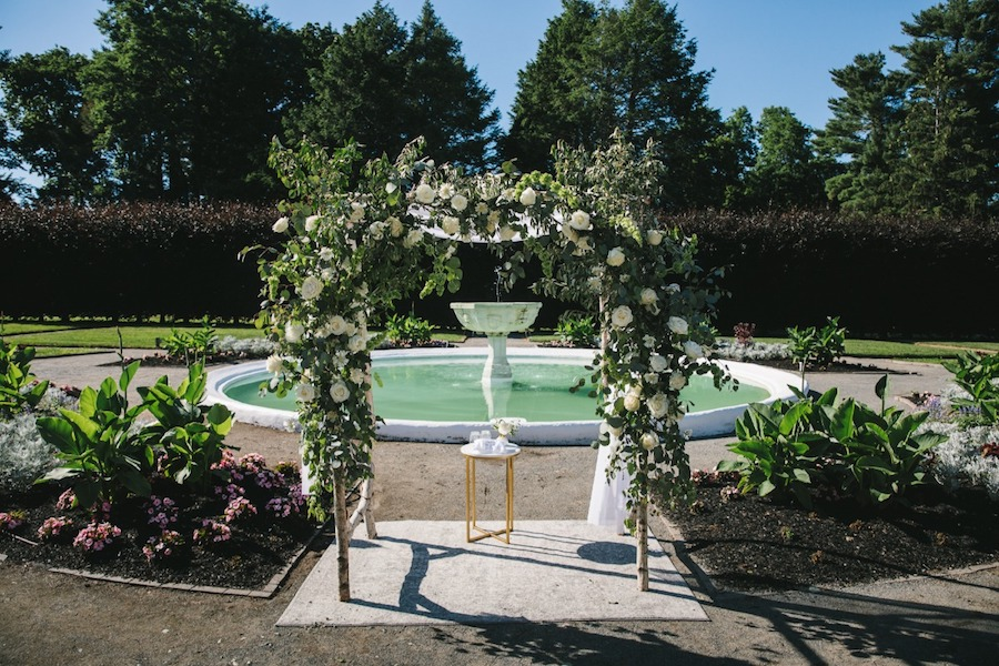 Modern Garden-Inspired Tented Wedding at The Gardens at Elm Bank