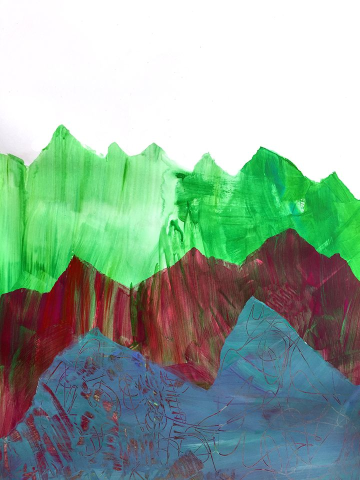 stencil mountains