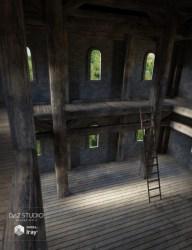 fantasy room interior daz 3d