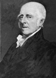 John Stevens, prolific American inventor and father of the U.S. patent system. (Photo of an oil painting by John Trumbull)