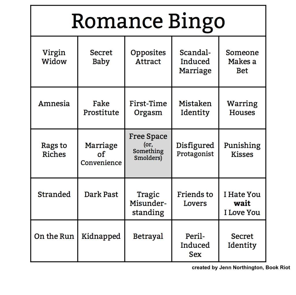 Story Tropes Bingo For Almost Every Genre