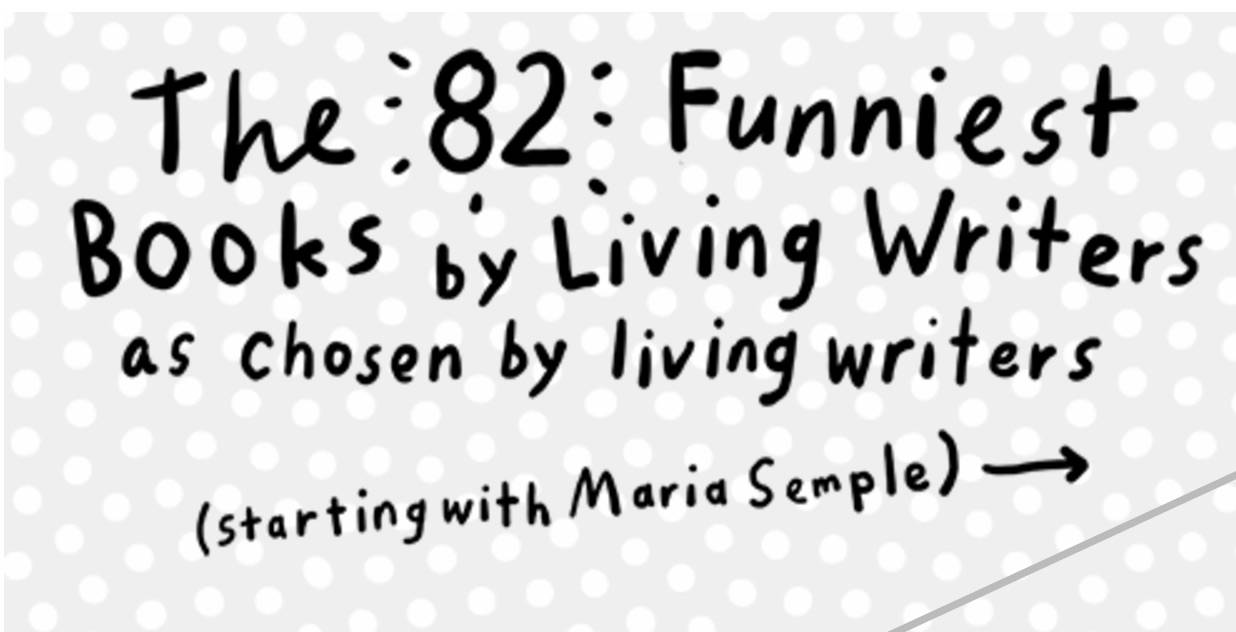 The 82 Funniest Books by Living Writers: Today in Critical