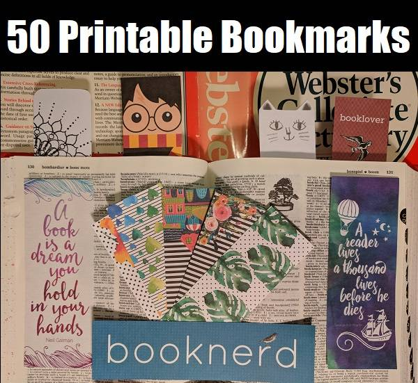 50 free printable bookmarks