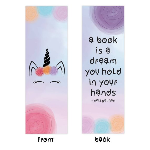 printable unicorn bookmarks # 10