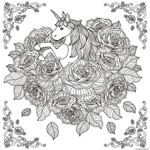 unicorn color pages # 58