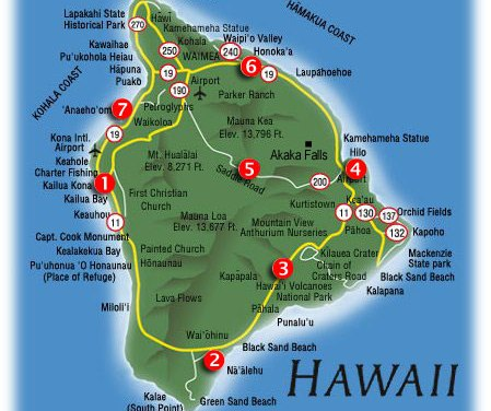 Circumnavigating the Big Island of Hawai`i