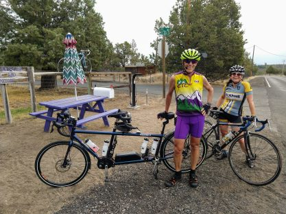 2-bicycle rest area with Tamara and Spencer