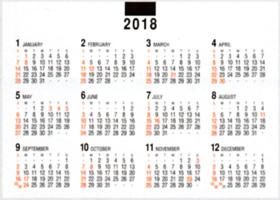 12月裏面の年表 : デスクスタンド・文字 2018年カレンダーの寫真 ...