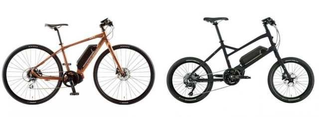 クロスバイクタイプの「AVIATOR-E」と、ミニベロタイプの「LGS ASCENT e-sports」