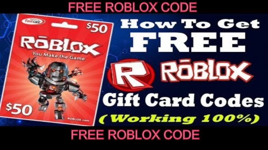 Free Robux Gift Card Codes Generator 2020
