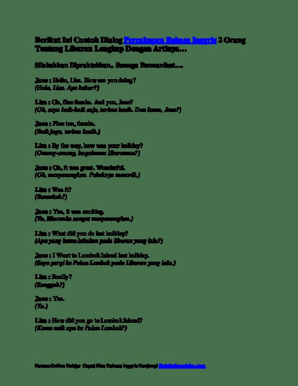 Contoh Percakapan Bahasa Inggris 2 Orang Tentang Kegiatan Sehari Hari : contoh, percakapan, bahasa, inggris, orang, tentang, kegiatan, sehari, Download, Percakapan, Bahasa, Inggris, Peatix