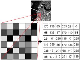 pixel values of image