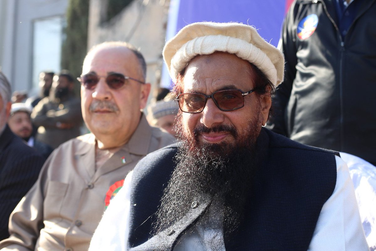 Palestine's Pakistan envoy shares stage with Hafiz Saeed, India issues demarche
