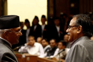 A rift has been reported recently between Prime Minister KP Oli and the ever-ambitious Maoist chairman Pushpa Kamal Dahal 'Prachanda'. Credit: Reuters